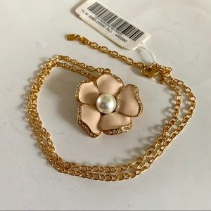 NWT Rose with Pearl Inset Cezanne Necklace